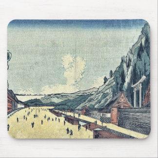 Mount Atago at Shiba by Utagawa, Kuninao Ukiyoe Mouse Pad