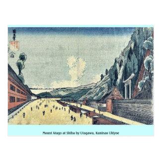 Mount Atago at Shiba by Utagawa, Kuninao Ukiyoe Postcard