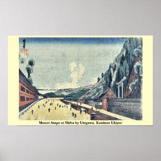 Mount Atago at Shiba by Utagawa, Kuninao Ukiyoe Poster