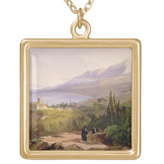 Mount Athos and the Monastery of Stavroniketes, 18 Gold Plated Necklace