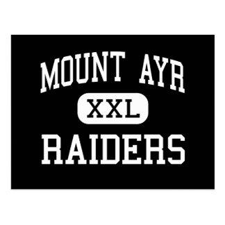 Mount Ayr - Raiders - High School - Mount Ayr Iowa Postcard