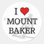 Mount Baker Classic Round Sticker