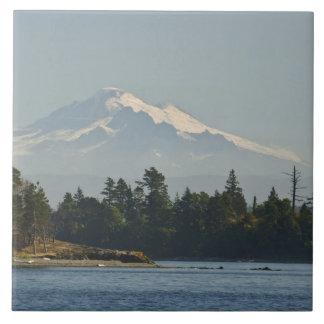 Mount Baker dominates landscape Ceramic Tile