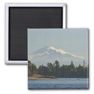 Mount Baker dominates landscape Fridge Magnets