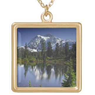 Mount Baker-Snoqualmie National Forest Square Pendant Necklace