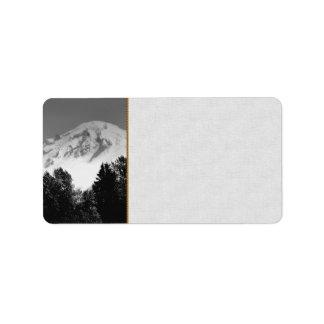 Mount Baker Through Trees Label