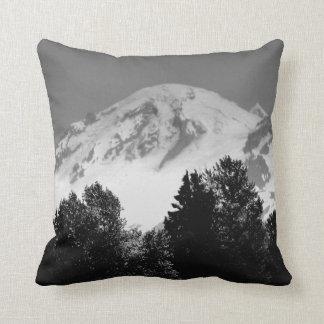 Mount Baker Through Trees Throw Pillow