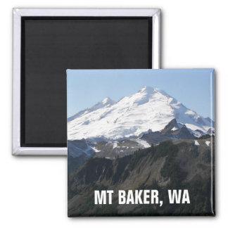 Mount Baker, Washington Photo 2 Inch Square Magnet