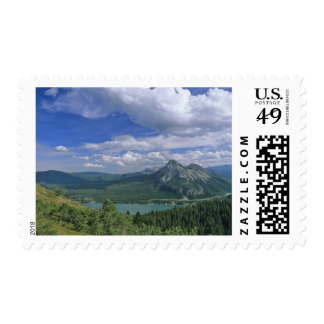 Mount Baldy and Barrier Lake in the Kananaskis Postage Stamp