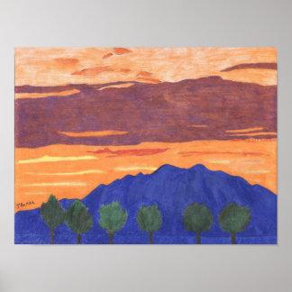 Mount Baldy Sunset Poster by Julia Hanna