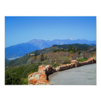 Mount Baldy View From The Rim of the World Highway Poster