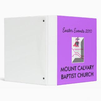 MOUNT CALVARY BAPTIST CHURCH, Easter Eve... Binders