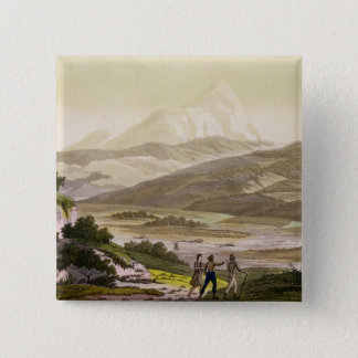 Mount Cayambe, Ecuador, from 'Le Costume Ancien et Pinback Button