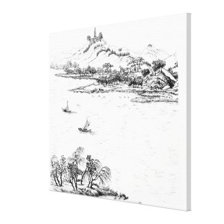 Mount Chang and Lake Chou, from 'Jardins Anglo-Chi Gallery Wrapped Canvas