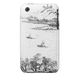 Mount Chang and Lake Chou, from 'Jardins Anglo-Chi iPhone 3 Case-Mate Cases