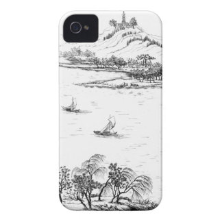 Mount Chang and Lake Chou, from 'Jardins Anglo-Chi iPhone 4 Case-Mate Case