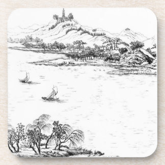 Mount Chang and Lake Chou, from 'Jardins Anglo-Chi Coasters