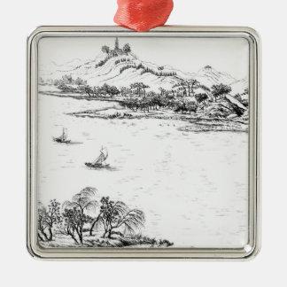 Mount Chang and Lake Chou, from 'Jardins Anglo-Chi Christmas Tree Ornaments