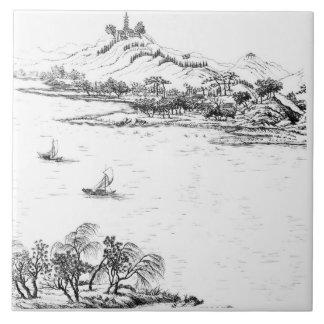 Mount Chang and Lake Chou, from 'Jardins Anglo-Chi Tile