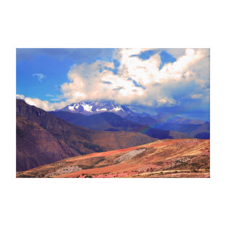 Mount Chicon Rainbow, Andes Mountains, Peru Canvas Print