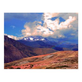 Mount Chicon Rainbow, Andes Mountains, Peru Postcard