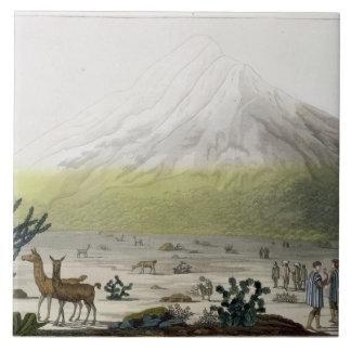 Mount Chimborazo, Ecuador, from 'Le Costume Ancien Ceramic Tile