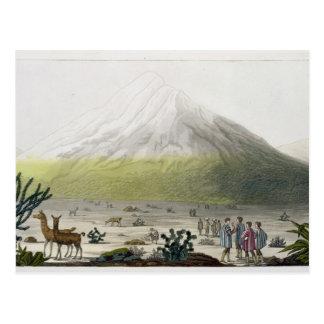 Mount Chimborazo, Ecuador, from 'Le Costume Ancien Postcard