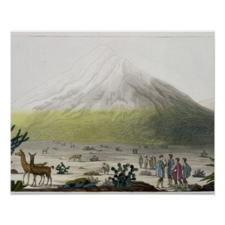 Mount Chimborazo, Ecuador, from 'Le Costume Ancien Poster