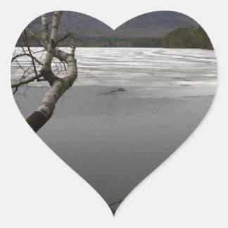 Mount Chocorua In Spring Heart Sticker
