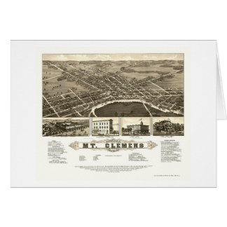 Mount Clemens, MI Panoramic Map - 1882 Cards