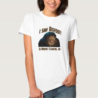 "Mount Clemens Michigan ""I saw Bigfoot!"" Tshirts"