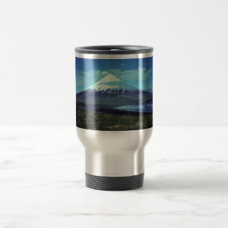 Mount Cleveland Volcano,Islands of Four Mountains, 15 Oz Stainless Steel Travel Mug