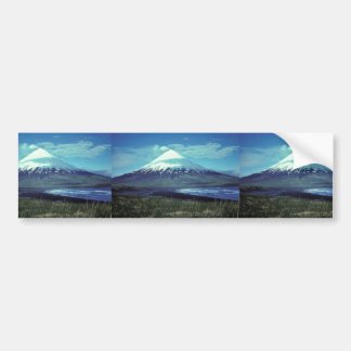 Mount Cleveland Volcano,Islands of Four Mountains, Car Bumper Sticker