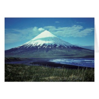Mount Cleveland Volcano,Islands of Four Mountains, Greeting Card