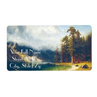 Mount Corcoran by Albert Bierstadt 1876–77 Label