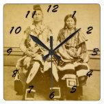 Mount Dakota Territory Crow Warrior and Bride Clock
