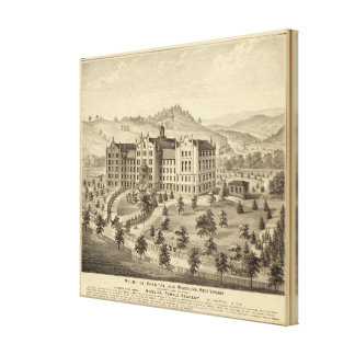 Mount de Chantal, near Wheeling, West Virginia Stretched Canvas Print