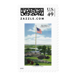Mount Defiance Giant Flagpole Scene Stamp