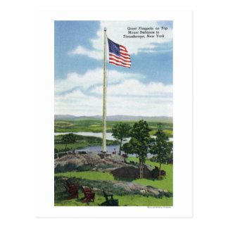 Mount Defiance Giant Flagpole Scene Postcard