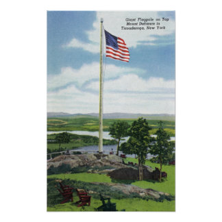 Mount Defiance Giant Flagpole Scene Poster
