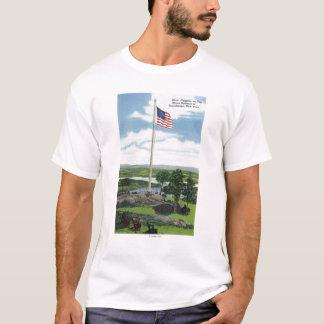 Mount Defiance Giant Flagpole Scene T-Shirt