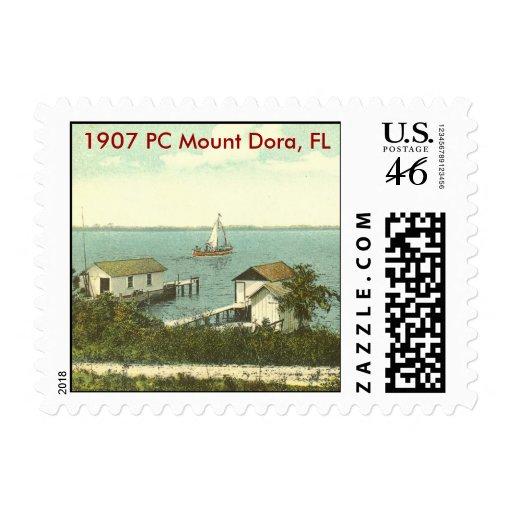 Mount Dora, FL - 1907 Boat House Row Stamp