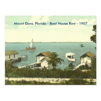 Mount Dora, Fl - Boat House Row - 1907 Postcard