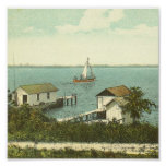 MOUNT DORA, FL -Boat House Row, 1907 Posters