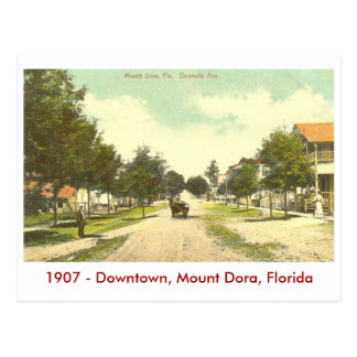 Mount Dora, FL - Downtown - 1907 Postcard