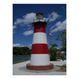 Mount Dora Florida Lighthouse Lake Marker Poster