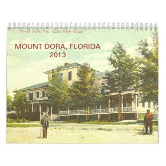 Mount Dora, Florida Vintage Postcard Calender for Calendar