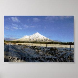 Mount Egmont/Taranaki New Zealand Poster
