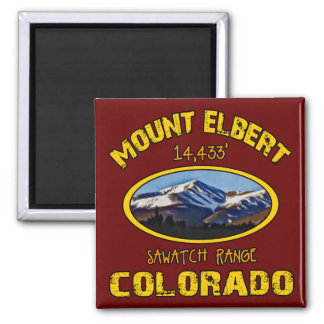 Mount Elbert 2 Inch Square Magnet