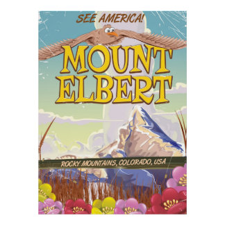 Mount Elbert, Colorado USA travel poster